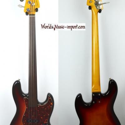 VENDUE... FENDER Jazz Bass 62'FL 3TS FRETLESS 'sans repère' 1985 RARE Japon POST JV  *OCCASION*