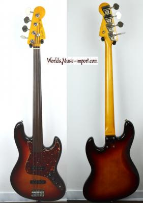 VENDUE... FENDER Jazz Bass 62'FL 3TS FRETLESS 'sans repère' 1985 RARE Japon POST JV  *OCCASION*
