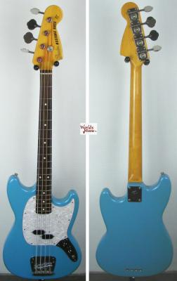 VENDUE... FENDER Mustang Bass MB98 Sonic Blue RARE 2002 Japon import *OCCASION*
