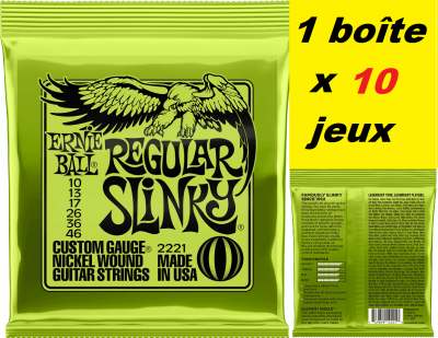 10 x Jeux Ernie Ball électrique 10/46