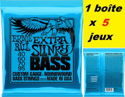 5 x Jeux Ernie Ball basse 40/95