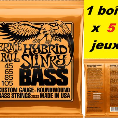 5 x Jeux Ernie Ball basse 45/105