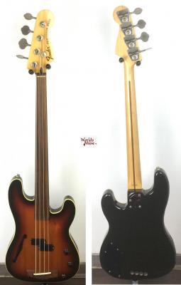 VENDUE... FENDER Bass PBAC-100FL 3TS 1990 Fretless Japon *OCCASION*