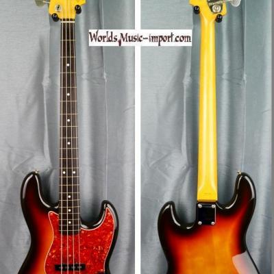 Fender Jazz Bass JB'62 FL  1990 3 tons sunburst FRETLESS ' Order Made Nitro ' japan import *OCCASION*