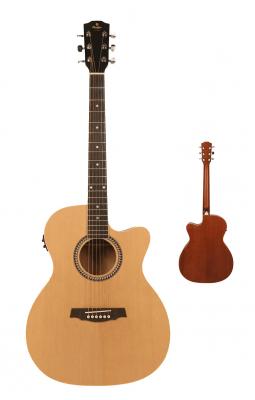 PRODIPE Guitare SA-25 CEQ folk électro-acoustique naturelle *NEUF*