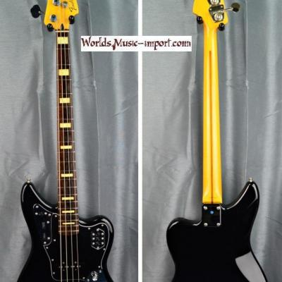VENDUE... Fender Jaguar Bass Deluxe black 2006 micros Custom Shop Japan import *OCCASION*