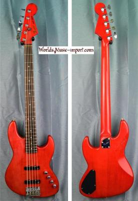 Fender JBV-95 1987 Trans Red MH 5 cordes - RARE - japan import *OCCASION*