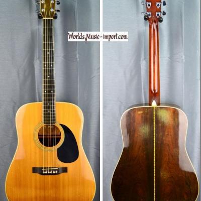VENDUE... K.YAIRI Acoustic Dreadnought YW-500 VNT 1973 Ebony japon import *OCCASION*